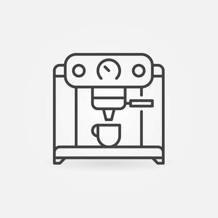 Coffee Machine vector concept linear icon or sign