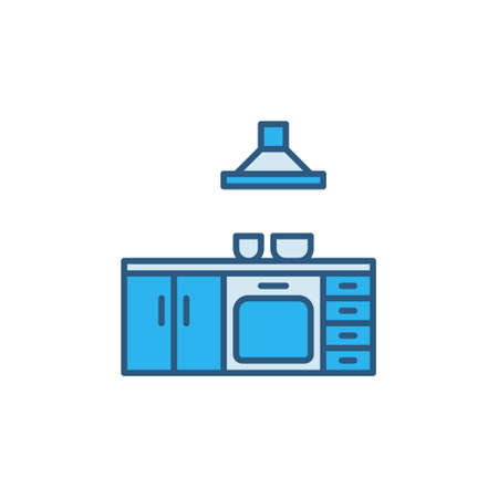 Kitchen vector concept minimal colored icon or sign