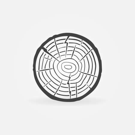 Tree Growth Rings icon - Trunk Cross Section vector sign