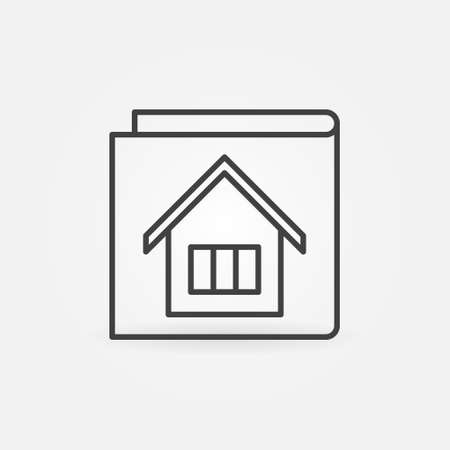 House Documents vector concept outline icon or symbol