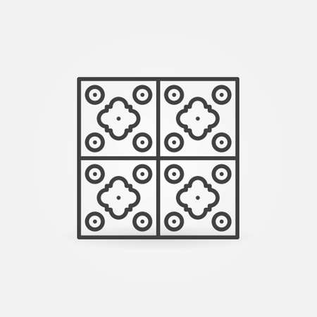 Wall Tile vector concept icon in thin line style Ilustração
