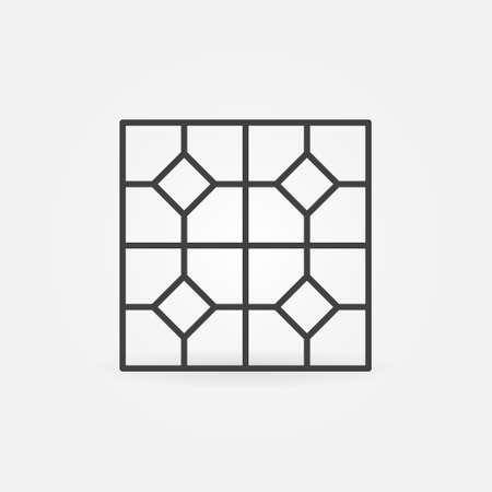 Vector Floor Tile outline concept icon or symbol