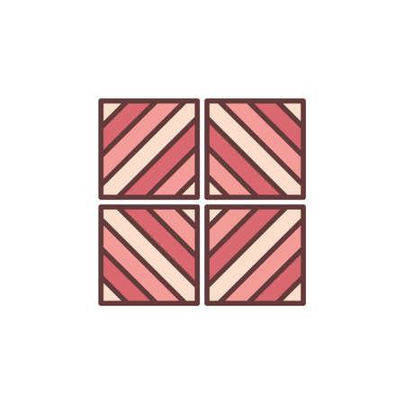 Tiles with Diagonal Design vector concept red icon
