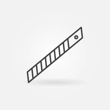 Stationery Knife Blade linear vector concept icon