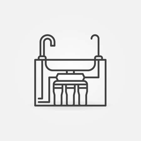 Reverse Osmosis Water System under the Sink line icon