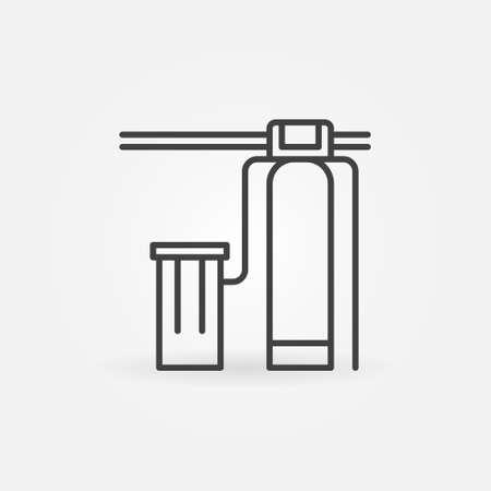 Water Softener with Iron Removal vector line concept icon Ilustração