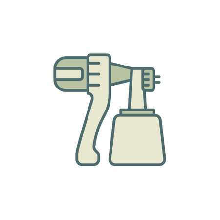 Paint Sprayer concept colored modern icon or sign
