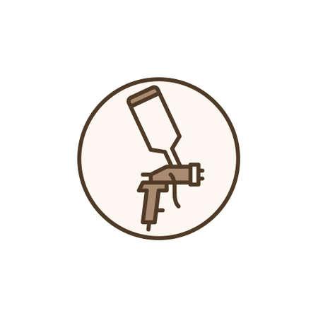 Spray Gun inside circle vector concept colored icon