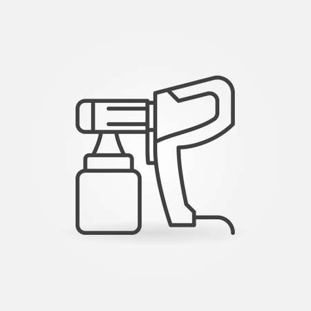 Vector Electric Paint Sprayer concept linear icon Vecteurs