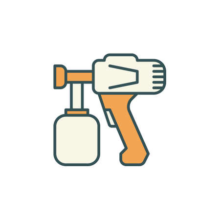 Vector Paint Sprayer concept colored icon or symbol