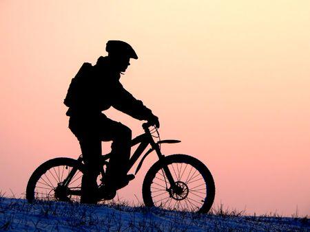 mountain biker - snow rider
