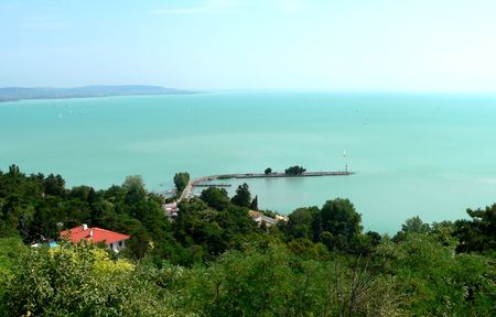 seaport: seaport in lake balaton - summertime Stock Photo