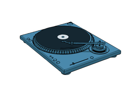 isolated turntable (vector eps format) Vector
