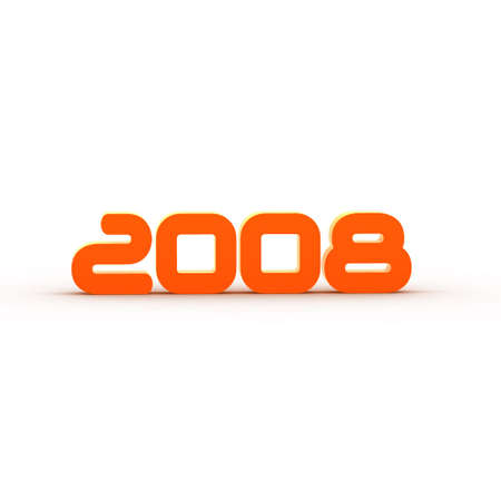 thursday: the year 2008 - orange illustration