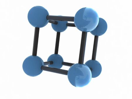 isolated molecule - 3d render photo