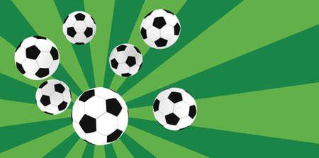 soccer balls on retro background Stock Photo - 1897735