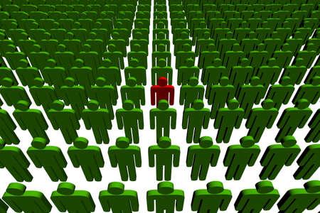 3d people - outsider - illustration Banco de Imagens - 2097253