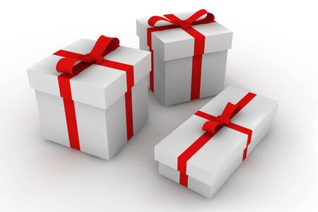 gift boxes - 3d isolated illustration Stock Illustration - 2104449
