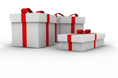 gift boxes - 3d isolated illustration Stock Illustration - 2104447