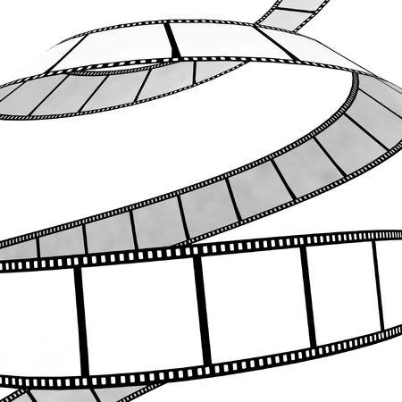 isolated moviephoto film - illustration on white background