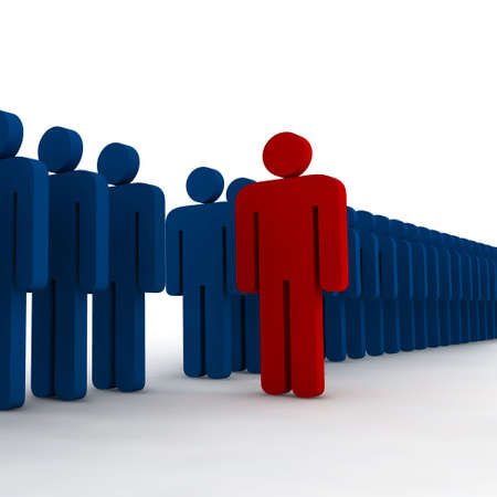3d people - outsider - illustration