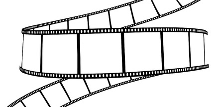 isolated moviephoto film - vector illustration on white background