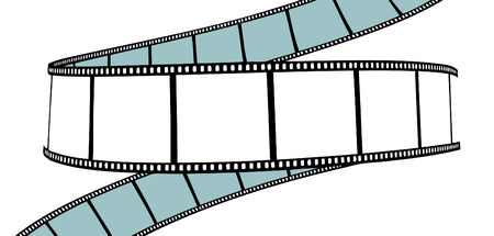 isolated moviephoto film - vector illustration on white background Vector