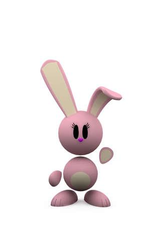 pink rabbit - isolated,illustration on white background illustration