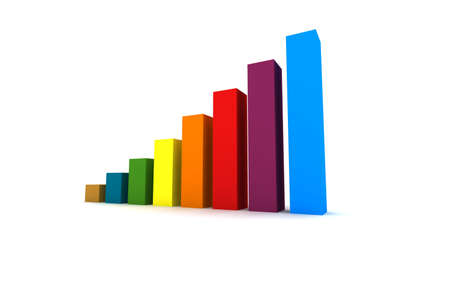 attainment: statistics - 3d isolated multicolor diagram