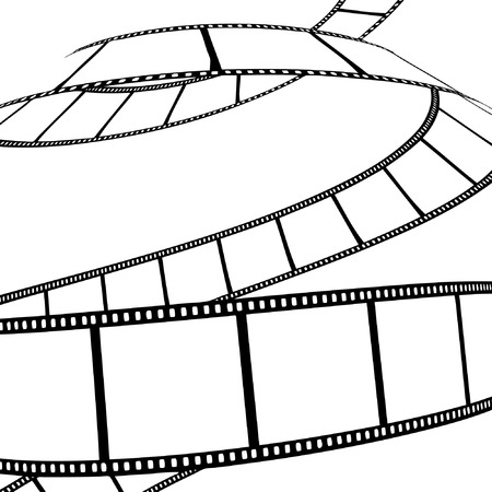 isolated moviephoto film - vector illustration Illustration