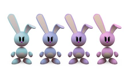 little rabbits - isolated illustrations on white background Stock Illustration - 3006650