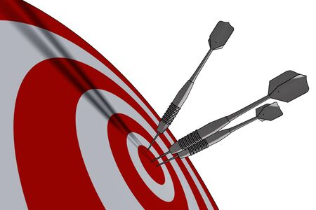 bullseye - business concept - 3d illustration Stock Illustration - 3010780