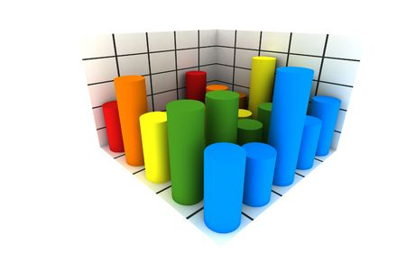statistics - 3d isolated multicolor diagram Stock Photo - 3010777
