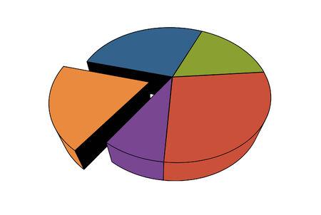 vector statistics - 3d isolated multicolor diagram Vector