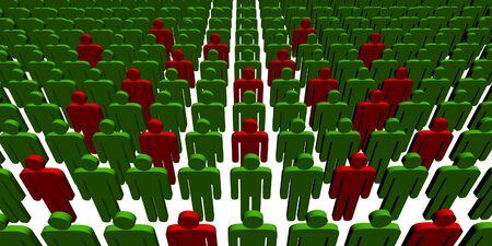 3d people - outsiders - illustration