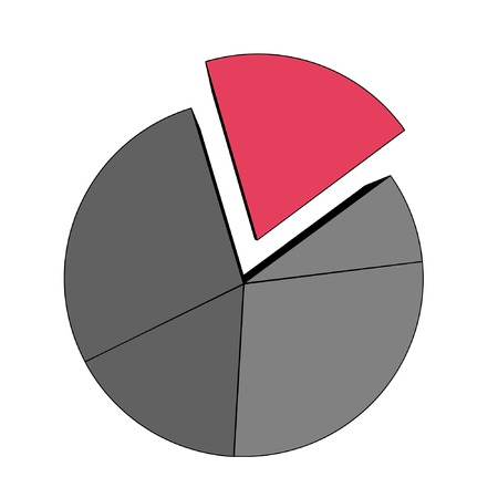 vector statistics - isolated diagram on white Vector