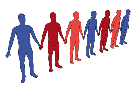 vector illustration - isolated 3d people - outsiders