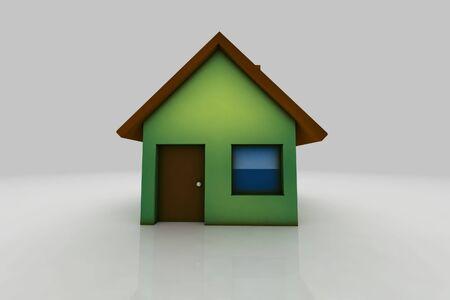little house - 3d illustration illustration