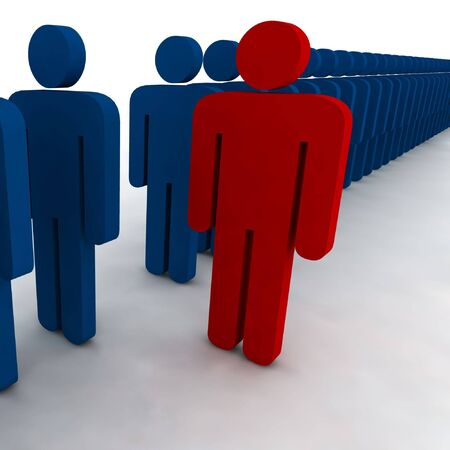 3d people - outsider - illustration Stock Illustration - 3606998