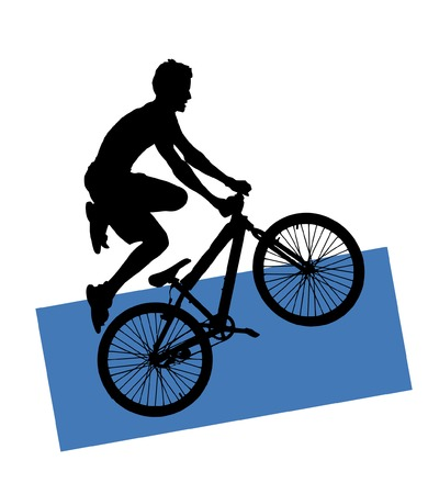 mtb: (vector) extreme sport - jump with a mountain bike Illustration