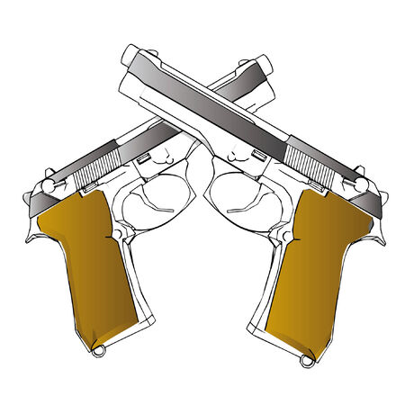 handgun: vector guns - 3d illustration on white background