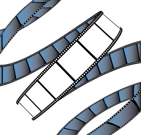 isolated moviephoto film - illustration on white background (vector illustration) Vector