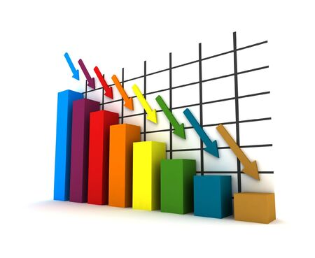 crisis in the money market/business market - isolated multicolor diagram Stock Photo - 3709109