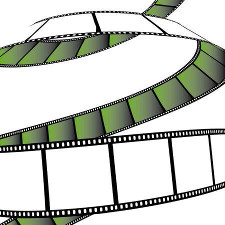 photo artistique: isol� film  photo film - illustration sur fond blanc (illustration vectorielle)