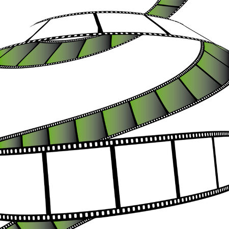 isolated moviephoto film - illustration on white background (vector illustration) Illustration