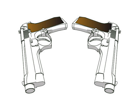 vector guns - 3d illustration on white background Stock Vector - 3770300