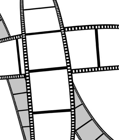 esporre: isolati filmato  foto film - illustrazione su sfondo bianco (illustrazione vettoriale) Vettoriali