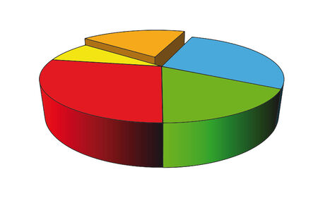 statistics - isolated diagram on white (with vector format) Vector