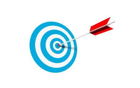 bullseye - business concept - 3d illustration illustration