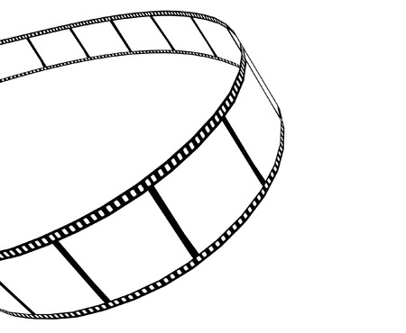 isolated moviephoto film - illustration on white background